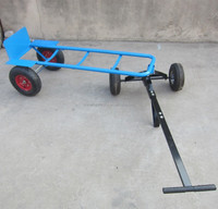 3 wheel hand heavy duty escort towing truck and hand trolley