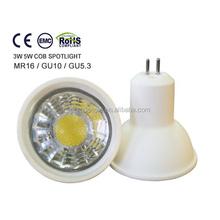 3w cob led spotlight ceramic material GU5.3 GU10 MR16