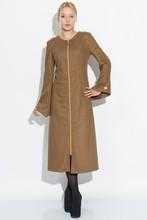 2015 new women long felt jacket with long zipper from istanbul TURKEY