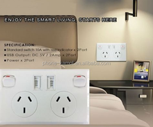 stock ready australian home wall socket 3 pin usb outlet with usb port australian switches