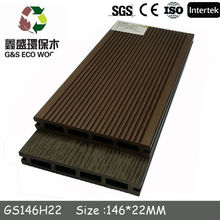 2015 new design! hollow wpc composite flooring,high quality and cheap price wpc decking