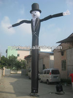 2013 New Designed Black Gentleman One leg Air Dancer Make in China From Plato Company