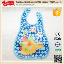 Eco-friendly Fashion Washable EVA Baby Bib With Velcro Closure