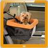 black orange Dog Booster Seat car seat
