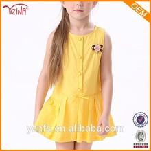Muchacha de los niños vestido del cabrito del niño, Yiwu vestidos ropa mercado de prendas de vestir
