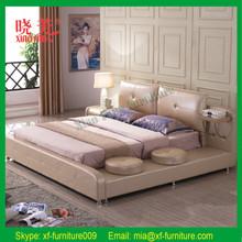 Bedroom Furniture Leather bed modern design horizontal bed