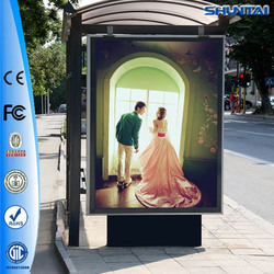 Customized light box aluminium frame led outdoor electronic scrolling picture frame