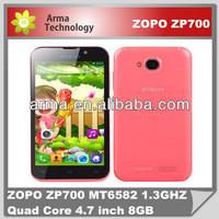 Original ZOPO ZP700 MT6582 1.3GHZ Quad Core, RAM 1GB ROM 4GB, 4.7 inch QHD IPS Screen with 960*540 Pixels, 8MP+5MP CMOS Camera