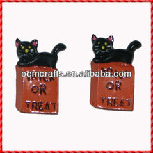 Set 2 mini cats statues for Halloween Party Favors