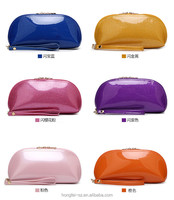 2015 new Korean dinner packet mobile phone makeup bag mini candy color pu leather ladies purse