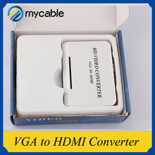Good design VGA to HDMI Full HD Video 1080P Audio Converter Box Adapter for Laptop DVD