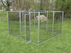 "Alibaba express 1 3/8"" O.D. glavanized tubing frames fully welded 4 x 4 x 6 H Portable Dog cage Kennels"