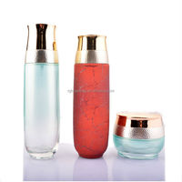 120ml 100ml 40ml 20ml 50g 30g Green Cosmetic Glass Dropper Bottle