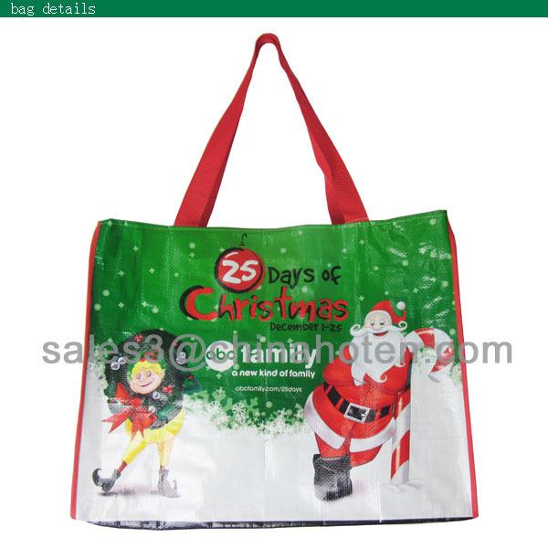 PP woven chiristmas bag, PP woven bag, PP woven shopping bag