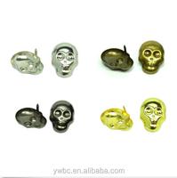 Metal Different Color Skull Studs Rivet Punk Rock Spike Leather Craft Nailheads DIY