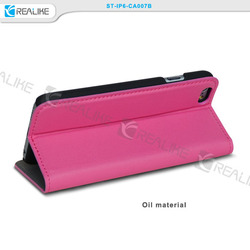 manufacturer leather flip cover for iphone, for iphone 6 flip cover case