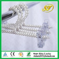Pearl beads hanger,clothes hanger ,adults pants skirts pearl hanger