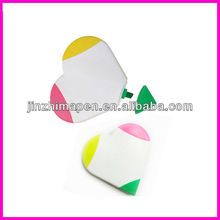 promotional heart shaped highlighter pen