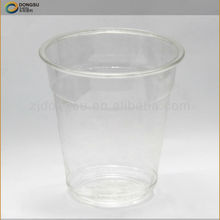 Clear plastic disposable cool syrup drinking cup supplied by Dongsu, with FDA/SVHC/ISO certificates