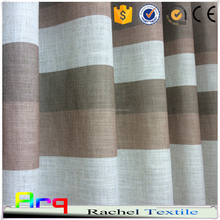 Printed stripe in Linen/Polyester pure style fabric for Curtain, cushion cover, bedding India style