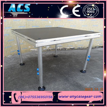ACS outdoor event stage, Aluminium plywood stage, aluminum portable stage with adjustable legs