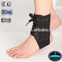 AN-1301 Sports lace up canvas ankle brace/ankle support