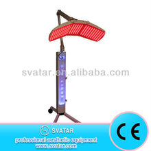PDT LED skin therapy blue and red light