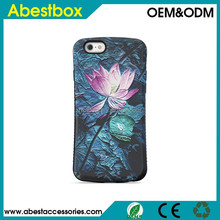 Silicone PC combo case iFace Mall Painting designed case for Apple iPhone 6 smart cover,flower design 3D arwork case for 6 Plus