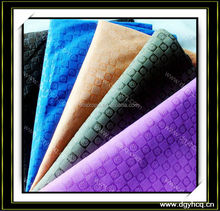 textured Printed And dye faux suede leather for bag shoes sofa