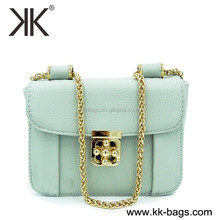 European Fashion Leather Cross Body Bag Chain Shoulder Bags for Women 2015
