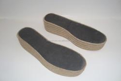 3.5cm back height raw material for soles eva wraped jute soles women's gender platform espadrille shoes hemp soles