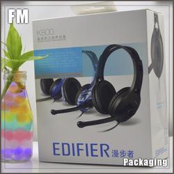 High quality headphone packaging clear plastic box