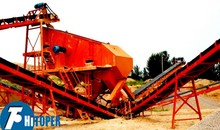 High frequency and high quality vibrating feeder with conveyor belt in indonesia mining stone project used.