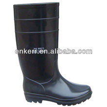 Negro negro anti ácido- base de pvc de trabajo botas