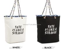 New Printing Women's Bag Canvas Shoulder Bag Chain Handle Handbag Totes
