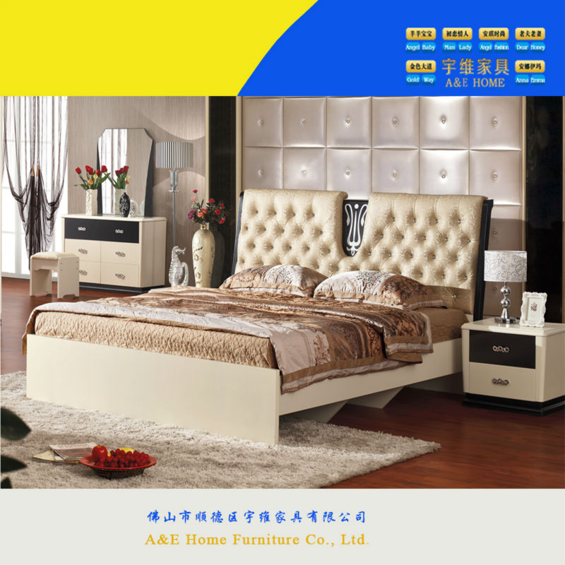 Shunde Good Quality Popular Cheap MDF Panel Sexy Bedroom Furniture For