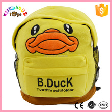 2015 carton design child school OEM China factory toys, Made names for cute stuffed animals, plush toy manufacturer bag