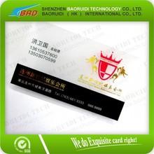 Ambos os lados de crédito tamanho PVC transparente cartão de tarja magnética / ver através de PVC Magtape cartões