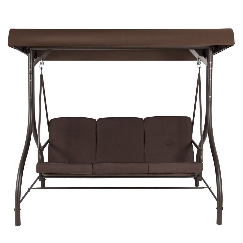 acero de lujo tres asiento columpio cama outdoor columpio jardn columpio conjunto venta