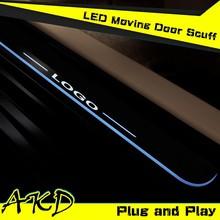 AKD Car Styling Toyota RAV4 2014-2015 LED Moving Door Scuff New Rav4 LED Door Sill plate Rav4 Side Step Cover Pedal