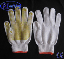 RL Safety best selling PVC dotted palm glove/ good fit cotton glove/ useful hand tool