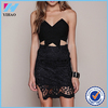 Yihao 2016 Summe Ladies New Designs Girls Black Sexy Fashion Dress Party Wear Western Casual Women Mini Dresses Clothes 2015
