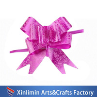 Hot sale fabric butterful ribbon bow for gift packing