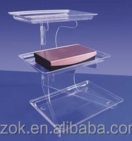 promotion luxury design acrylic cosmetic tray for wholesale