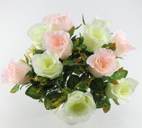 cheap artificial fake plastic flower bulk silk flower rose