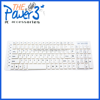 Brand new white wireless computer keyboard with portable design