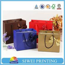 2015 New Design Handmade Recycle big decorative packaging paper bag design