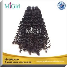 MyGirl Guangzhou Full cuticle virgin peruvian human hair wholesale Small Curly hair extensions peruvian hair