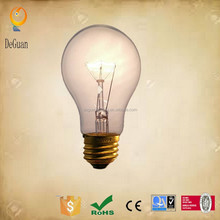 A19,A60 E26,E27 Base 110v,220v competitive price clear,color,frosted incandescent light bulb