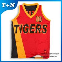 sublimation print custom logo reversible basketball jersey